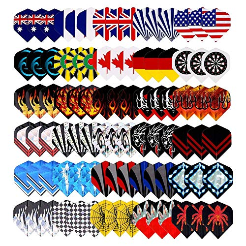 25 Sets(75Pcs) Long Life Durable Nylon Dart Flights Sets Wholesale National Flag Rich Variety Of Cool Styles Bling Long Life Laser Darts Flights