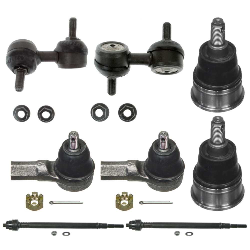 Prime Choice Auto Parts SUSPKG1100 Set of 2 Lower Control Arms 2 Sway Bar Link and 2 Inner and 2 Outer Tie Rod Ends