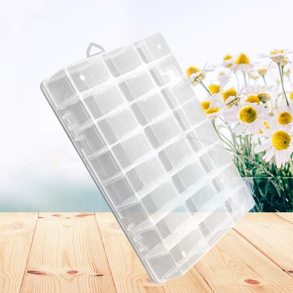 Healifty Scatola di Plastica a 24 Scomparti con Divisori Regolabili Organizzatore Portatile per Piccoli Oggetti Anelli Orecchini Perline Gioielli