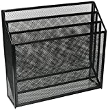 Rolodex 22347 Mesh three-tier organizer, black, 12-3/4w x 3-1/2d x 11-1/2h