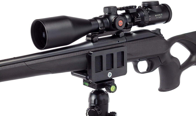 Tripod Mount Adapter gun Saddle Precision Rifle Rest