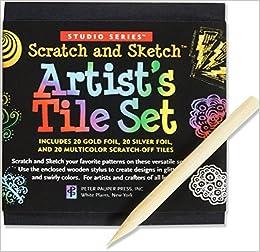 scratch sketch artists tile set scratch art mini notes studio