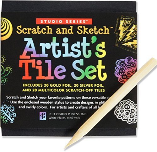 Scratch & Sketch Artist's Tile Set (Scratch Art mini notes) (Studio) (Ink Tiles)