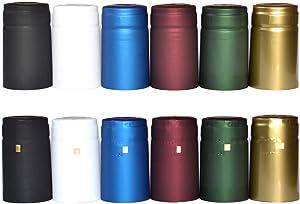 nicebottles Shrink Capsules, Matte White, 28x50mm, Pack of 30 - Compatible with NiceBottles 5oz & 10oz Woozy & Hot Sauce Bottles