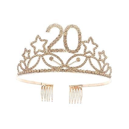 Beaupretty Corona Cumpleaños 20 Años Diadema Cumpleaños ...