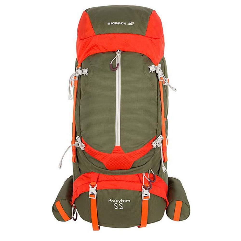 アウトドアバックパック - アウトドア登山バッグトラベルバッグバックパック55L 40*12*75cm グリーン B07JM3PV32