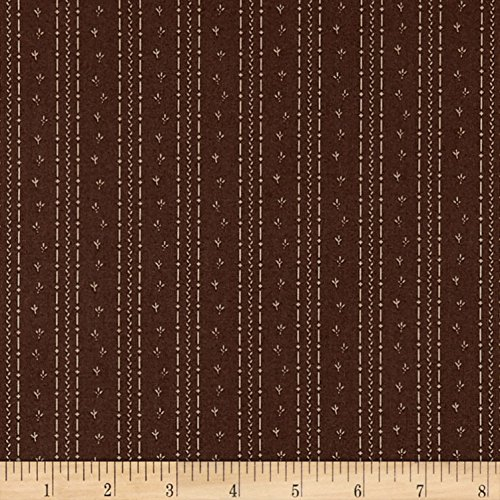 Penny Rose Calico Crow Tracks Brown Fabric by The Yard
