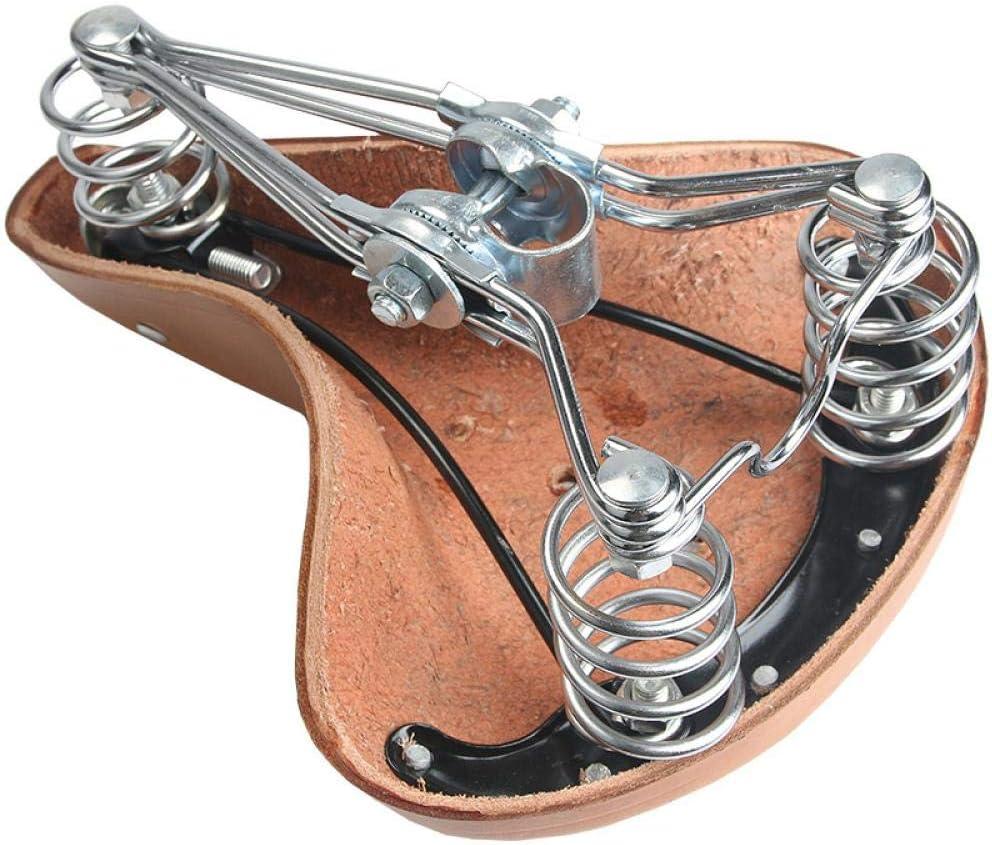Bicycle Leather Saddle Mountain Bike Retro Saddle Comfortable Riding Cushion Real Leather Equipment Old Style Cushion