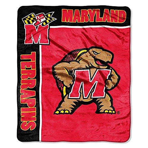 Officially Licensed NCAA Maryland Terrapins School Spirit Plush Raschel Throw Blanket, 50