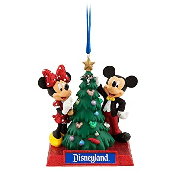 Disney Mickey & Minnie Mouse Holiday Ornament - Disneyland - Amazon.com: Disney Mickey & Minnie Mouse Holiday Ornament