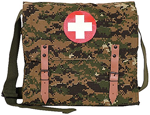 (Fox Outdoor Products German Medic Bag, Digital Woodland)