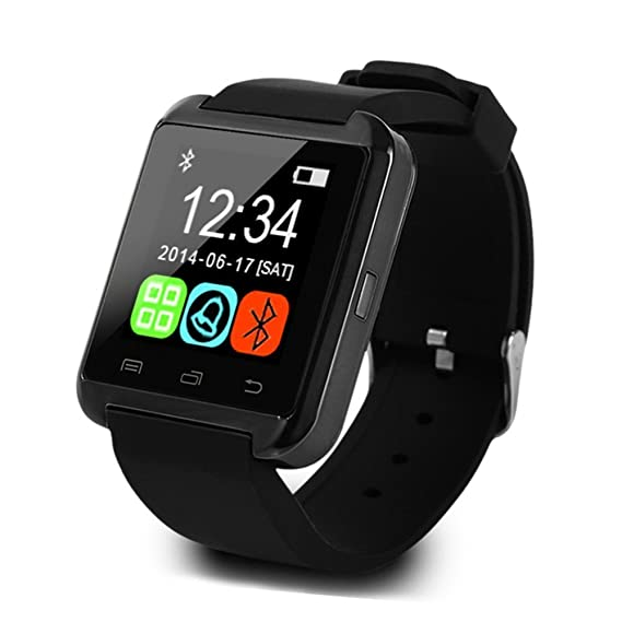 Smartwatch – Cheap Bluetooth Fitness Tracking Smartwatch, Wireless Sports Watch for Android phones, Samsung, Galaxy, LG, HCT, Sony (Black)