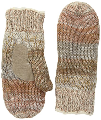 Isotoner Women's Chunky Cable Knit Sherpasoft Mittens, Ivory/Multi, One Size by ISOTONER