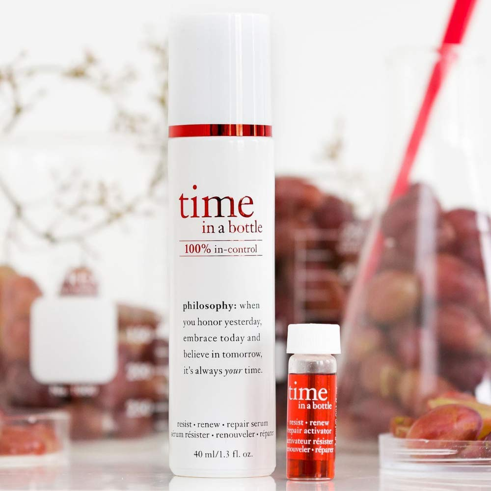 philosophy Time in a Bottle 100% Face Serum 40ml的圖片搜尋結果