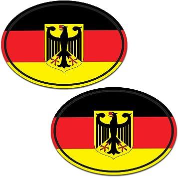 Biomar Labs 2 Stück Vinyl Deutschland Germany Flagge Aufkleber Autoaufkleber Stickers Auto Moto Motorrad Fahrrad Helm Fenster Tuning B 192 Auto
