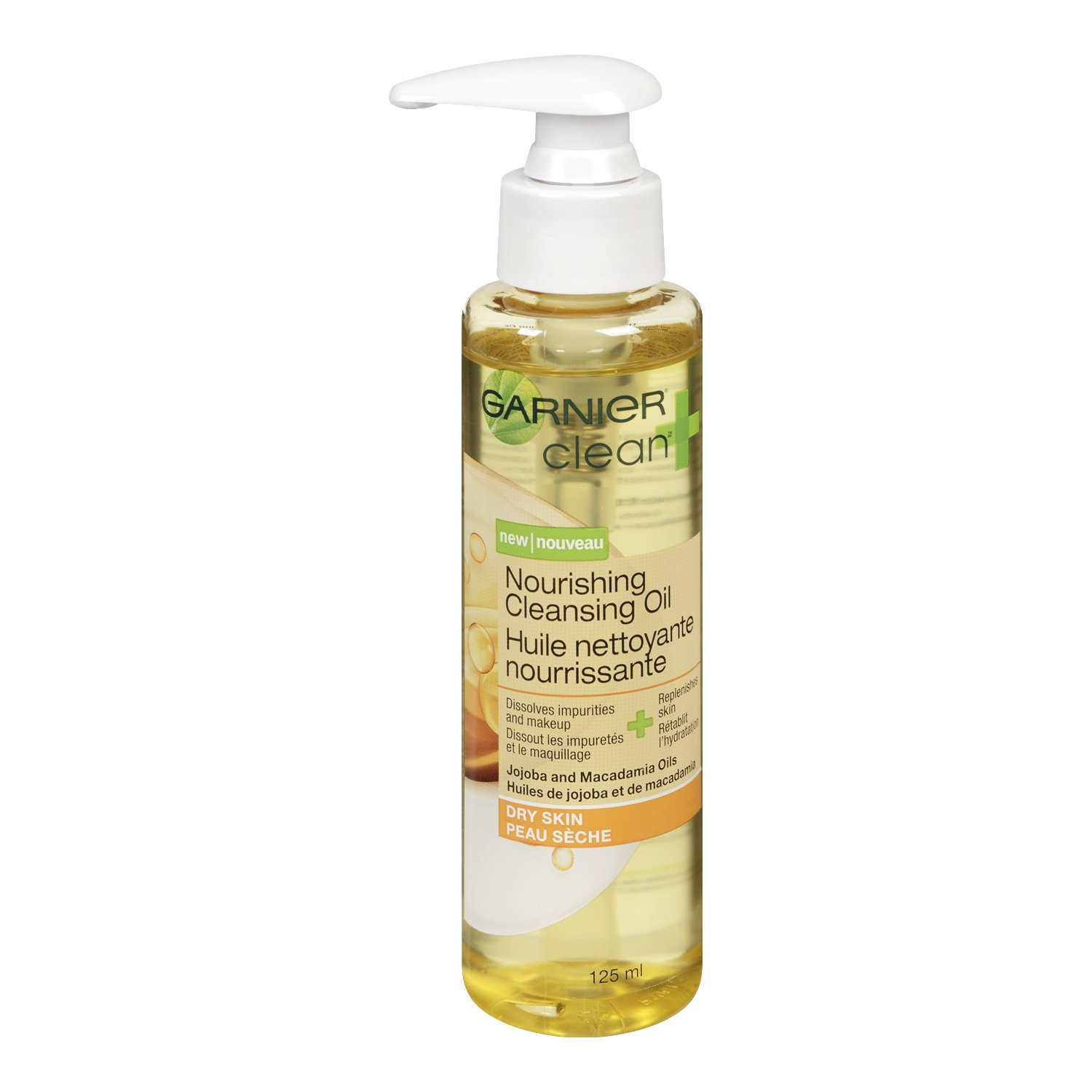 Garnier Clean+ Nourishing Cleansing Oil For Dry Skin, 4.2 Fluid Ounces