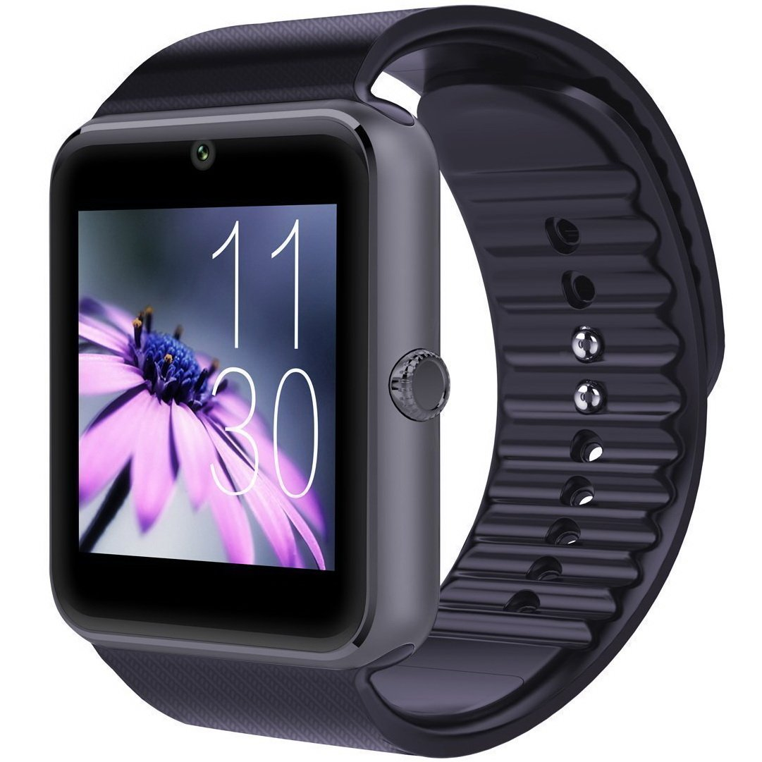 CNPGD Bluetooth Smart Watch(Partial Compatible for iPhone)+(Full Compatible for Android Phone) +Unlocked Watch Cell Phone+Fitness Tracker Camera Pedometer for Kids, Men and Women(Black) by CNPGD