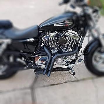 Jfg Racing 2 Zoll Schwarz Laf Drag Auspuffrohre Für Harley Davidson Sportster Bagger Softails Und Zoll Auto