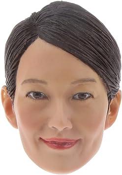 1//6 Scale Female Head Sculpt Modell für 12-Zoll-Actionfiguren