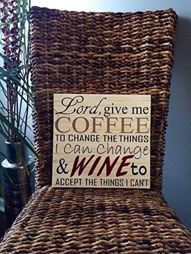 Amazon Com Coffee And Wine Sign Coffee Sign Coffee Bar Sign