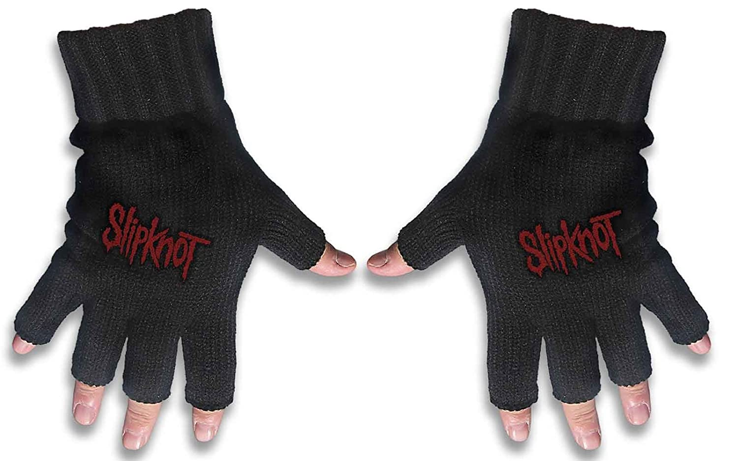 Slipknot Gloves Band Logo Iowa new Official Fingerless Black