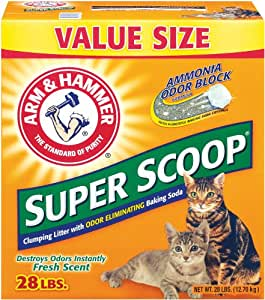 Arm & Hammer Super Scoop Clumping Litter, Fresh Scent, 28-Pound