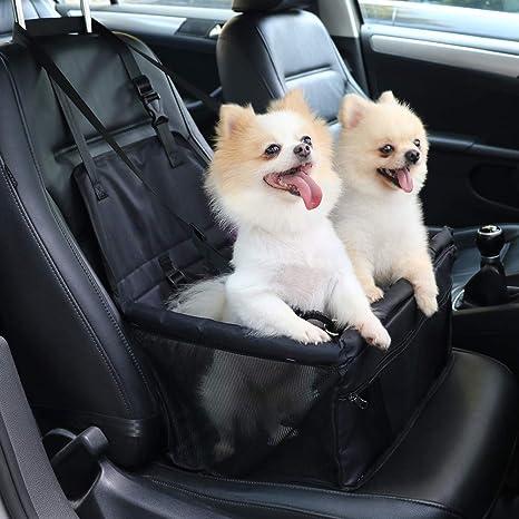 Bolso de Viaje con Correa de Seguridad para Perro Peque/ños o Gato Protector de la Cubierta del Asiento del Perro para Viaje Felicidad Asiento del Coche de Seguridad para Mascotas