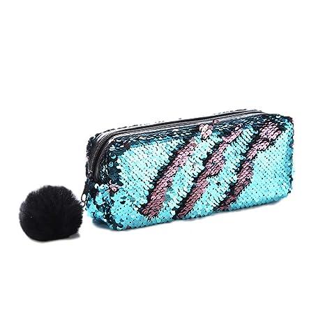 Hihey Sparkle Cosmetic Bag Sirena Espiral Reversible ...