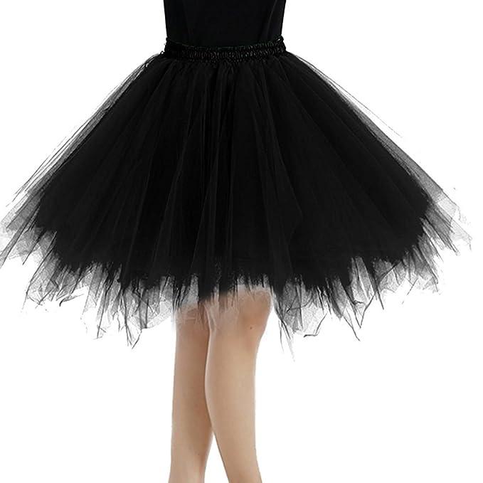 Juleya Vintage Lindo Irregular Minifalda Falda del tutú Enagua Mujeres niñas Tul Vestido de Bola Busto