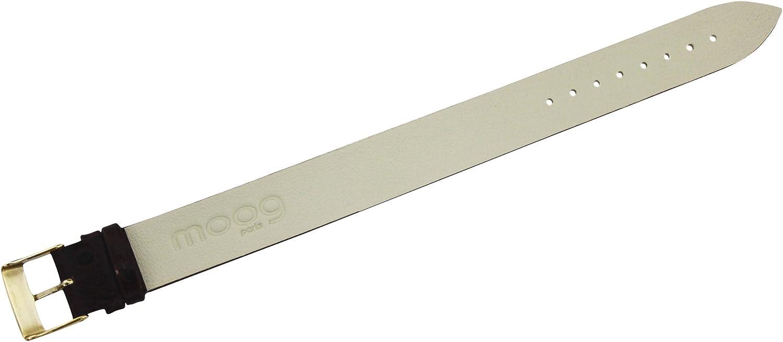 Bracelet Marron pour Femmes Moog Paris en Cuir Vachette, Largeur 18mm Bracelet Marron en Cuir/Boucle Doré