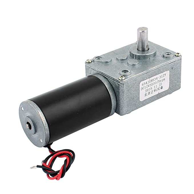 sourcingmap/® DC 24 V 165 U//min Hohe Drehmoment elektrische Leistung Geschwindigkeit verringern Turbine Wurm Getriebe Motor DE