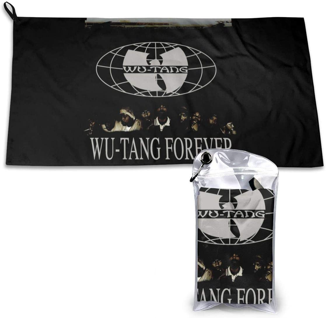 15.7 X 31.5 Inches Hand Towel for Camping JADESPON Wu Tang Clan Wu-Tang Forever Microfiber Travel Towel Quick Dry Gym Towel Sports Beach and Swimming Hiking