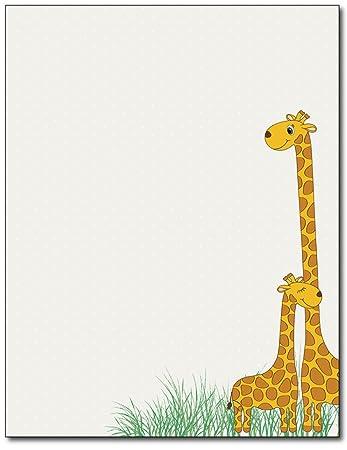 Amazon.com: Bebé MAMA jirafa papelería papel – 80 hojas ...
