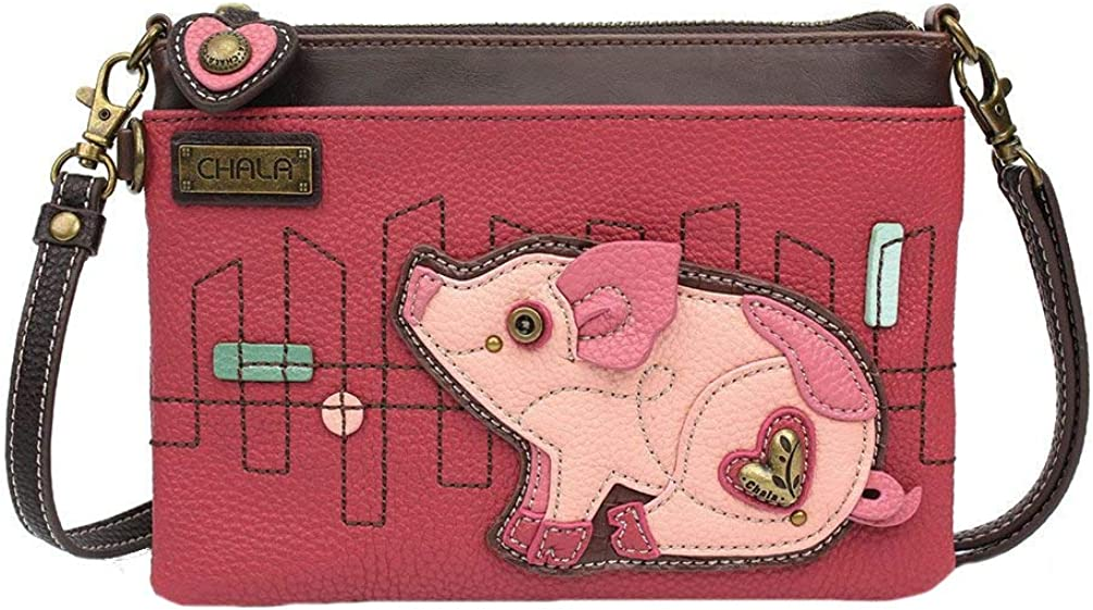 Chala Pig Mini Crossbody Handbag, Pig Lovers Gift Pig Accessories