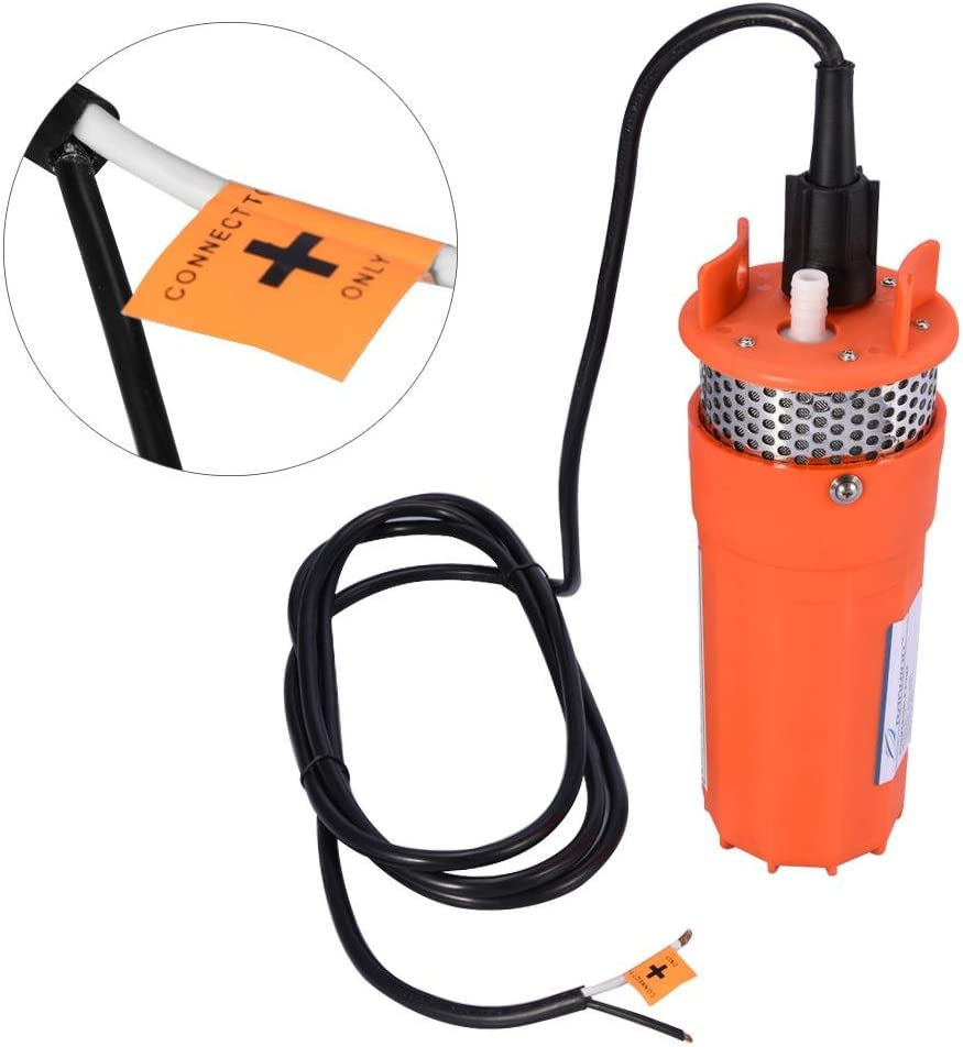 12V DC Bomba de Agua para Pozo de Energ/ía Alternativa Solar Flujo 6.5L EBTOOLS Bomba Sumergible 1//2 Pulgada para Agua de Pozo Profundo min Elevaci/ón M/áxima 70 m