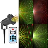 Christmas Laser Lights,Miniease Sky Star Laser Lamp,Indoor/Outdoor Waterproof Laser Lights for Garden/Yard/Wall Family Gathering Party KTV Wedding Night Decoration (Green and Red)