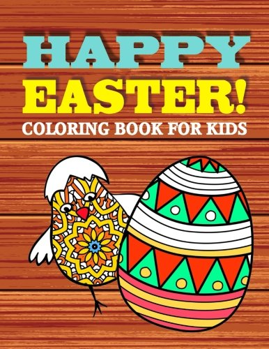 Happy Easter!: Kids Coloring Book (Single Sided)