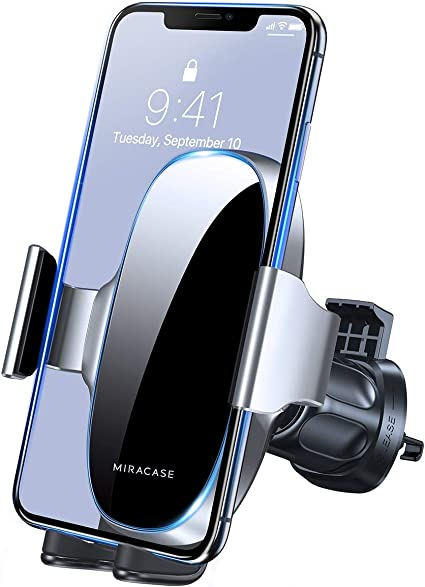 Car Phone Holder Mount, Phone Car Holder,Air Vent Car Phone Mount Compatible with iPhone 11//11 Pro//11 Pro Max//8 Plus//8//X//XR//XS//SE Samsung Galaxy S20//S20+//S10//S9//Note 20//10 etc Upgraded Clip