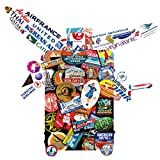 #4: Laptop Stickers [89pcs], Toufftek Airplane Travel stickers, classic world traveler luggage lables stickers to Laptops, Skateboards, Luggage, Cars, Bumpers, Bikes, Motorcycle, Mac, Guitar