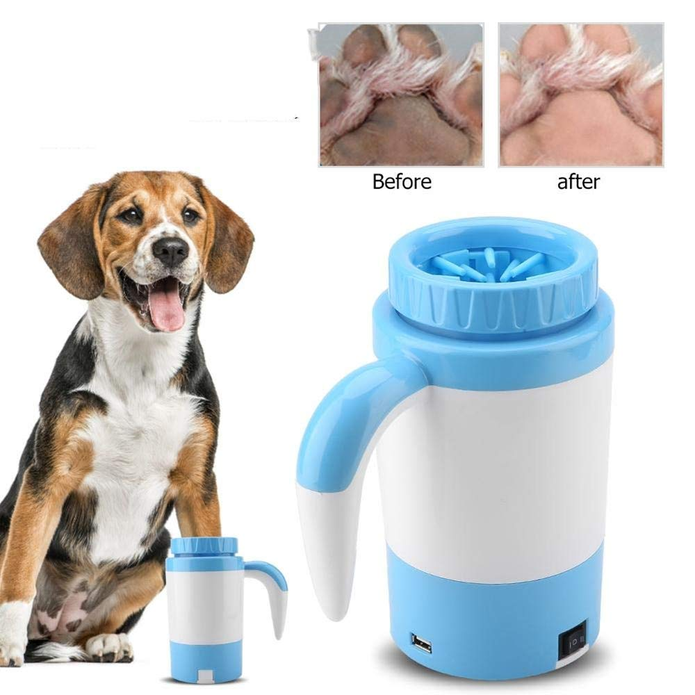 XinC Pet Paw Cleaner Electric Foot Washer Silicone Pet Cleaning Foot Cup Soft Comfort Silicone Mud Brush Dog Supplies Automatic Washing