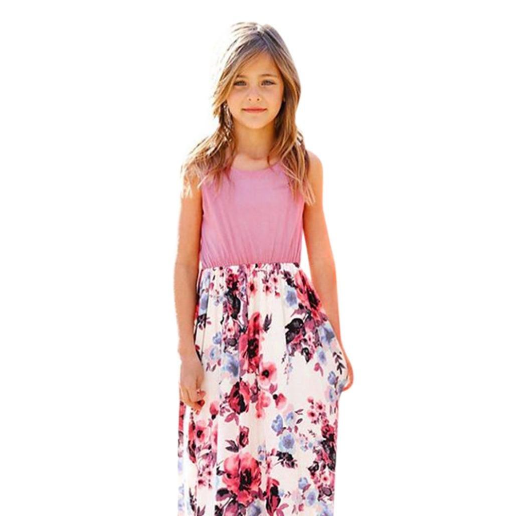 ❤ Vestido de Fiesta Chica, Moda infantil Bebé Estampado de Flores ...