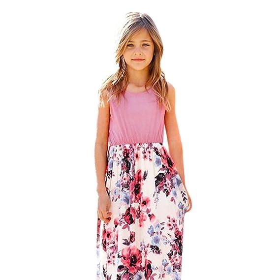 ❤ Vestido de Fiesta Chica, Moda infantil Bebé Estampado de Flores Princesa Fiesta Vestido Trajes Ropa Absolute: Amazon.es: Ropa y accesorios