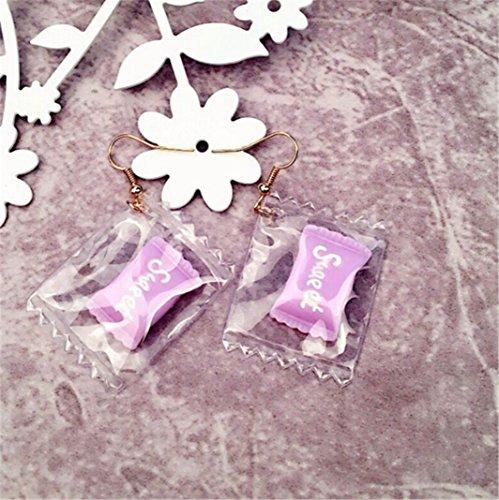 (Sweet Earrings Transparent Candy Fruit Earrings Simple Personality)