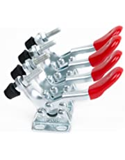 E-TING 4pcs Toggle Clamp GH-201A Horizontal Clamps Quick Release Red Hand Tool 201-A