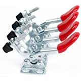 E-TING 4pcs Toggle Clamp Horizontal Clamps Quick Release Red Hand Tool (GH-201A)