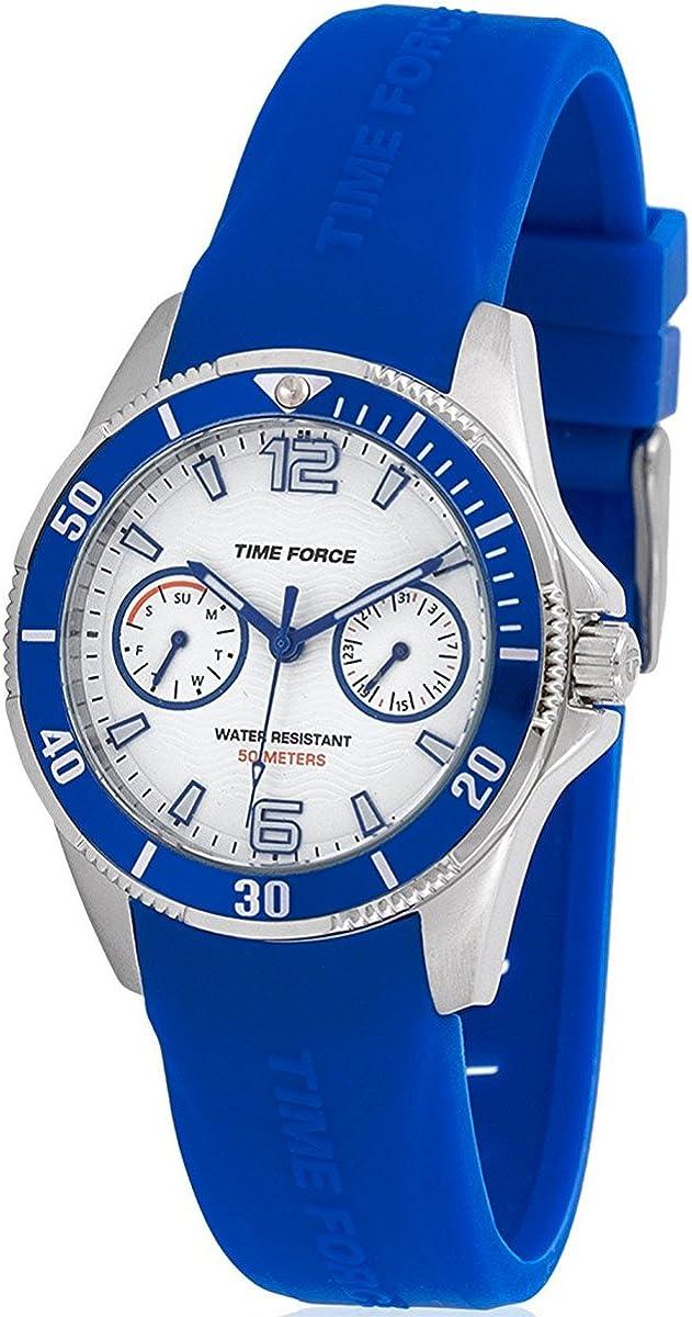 Time Force Reloj cadete con Correa de Caucho para niños TF4110B13