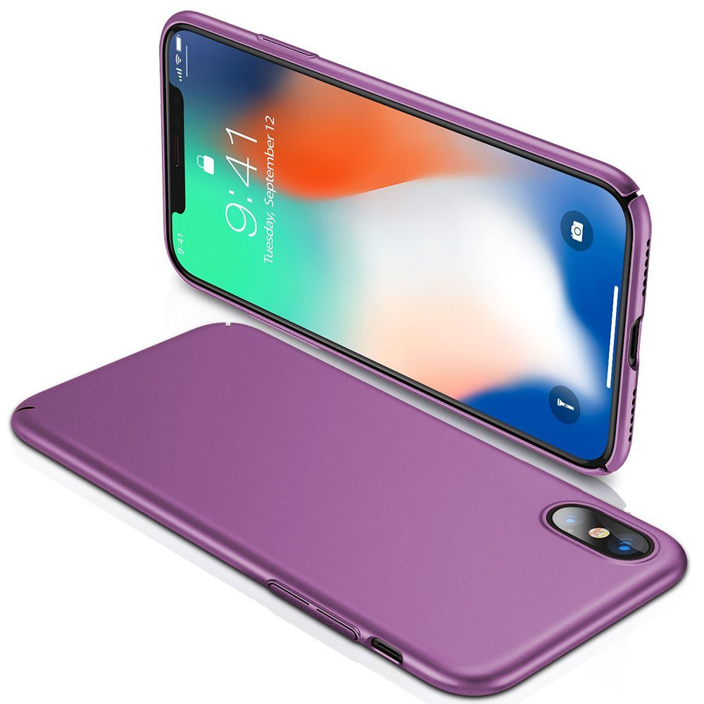 Case for Apple iPhone Xs XR Silky Hard iPhone Xs Max Slim Fit Housing Anti-Slip Full-Body Cover Plastic Shell
