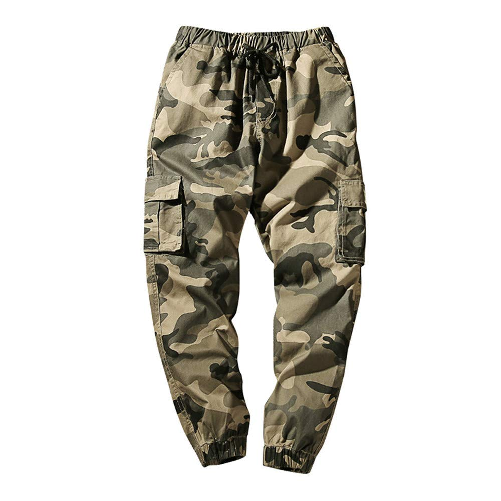 Joggers Pants for Men Fashion Cotton Camo Pants Regular Fit CieKen