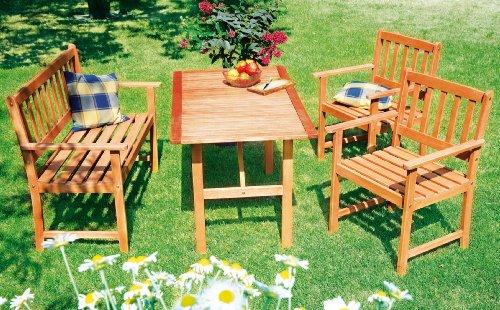 Gartenmöbel set holz  Diverse Gartenmöbel-Set aus Holz mit Bank und 2: Amazon.de: Elektronik