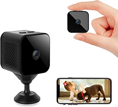 Mini Hidden Camera, Wireless 1080P Pet Camera WiFi Portable Small Covert Nanny Security Cam Sports Camera with Motion Detection and Night Vision,150 ° Wide Angle for iOS/Android (2.4G Only)